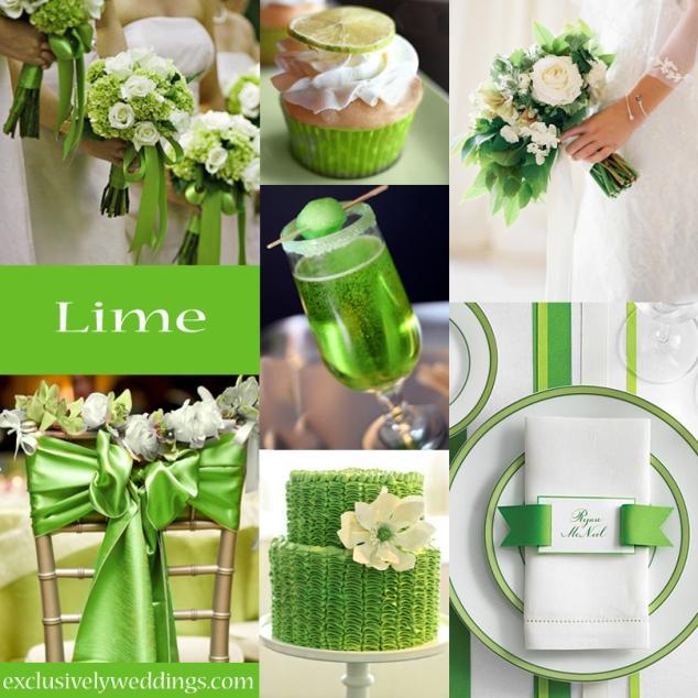 Farbauswahl Hochzeit Limetten-Grün