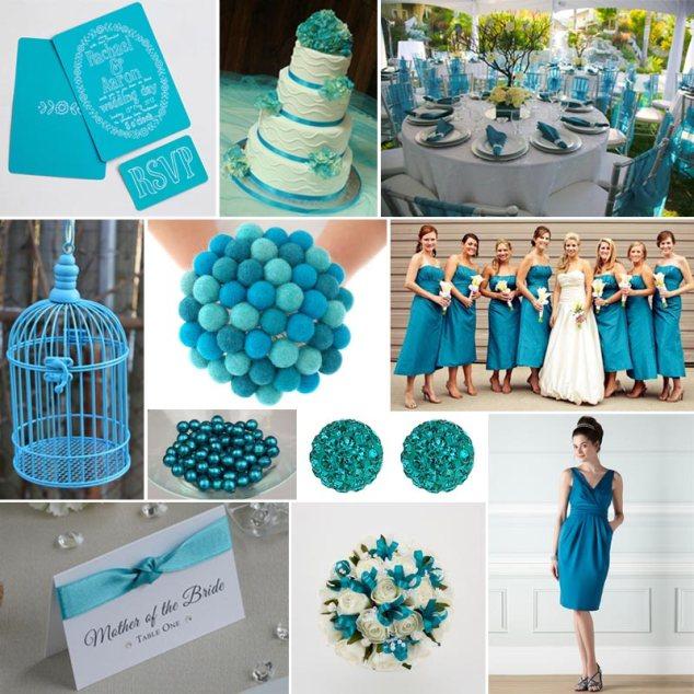 Farbauswahl Hochzeit Türkis
