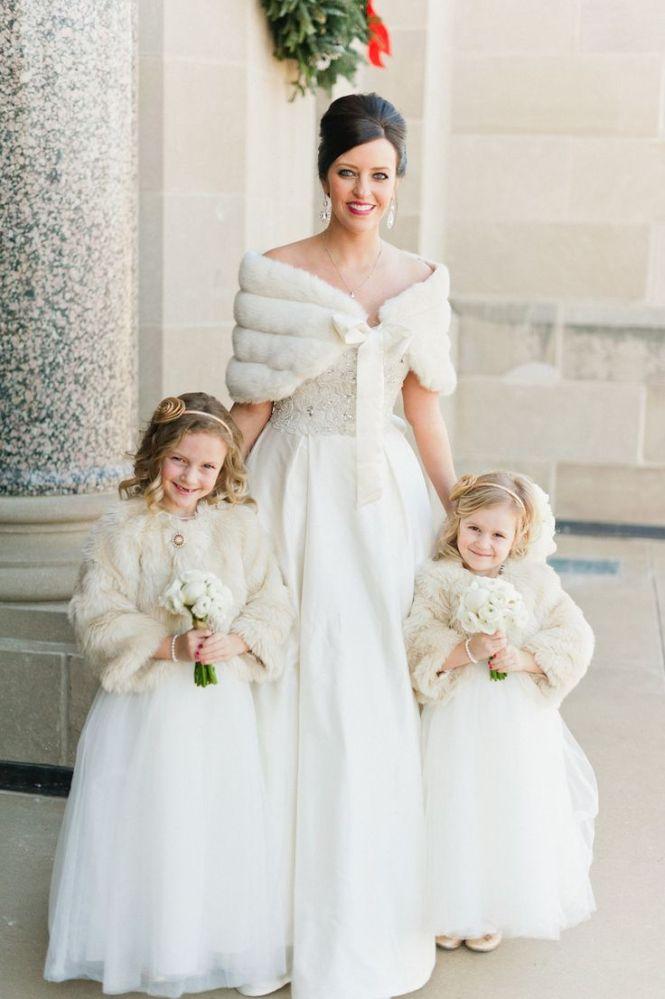 Hochzeitskleid Winter Accessoires