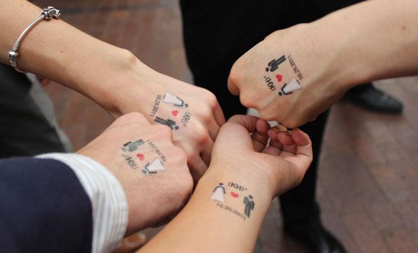 Abwaschbare Tattoos Hochzeit