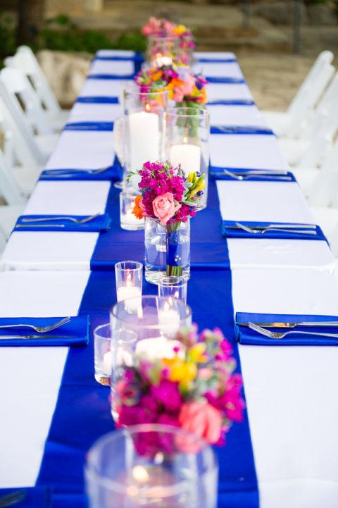 Ideen Tischdeko Frühlingshochzeit Farbig