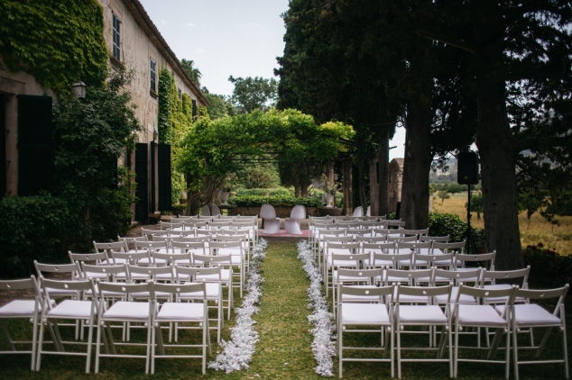 Hochzeitszeremonie Finca Mallorca