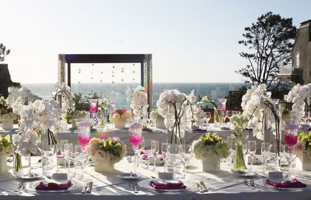 Hochzeit Blumendeko Orchideen Mallorca