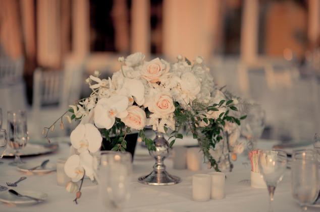 Orchideen Rosen Hochzeit Blumendeko